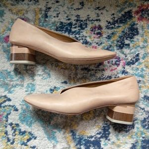Coclico Narwhal nude block heel pumps 36